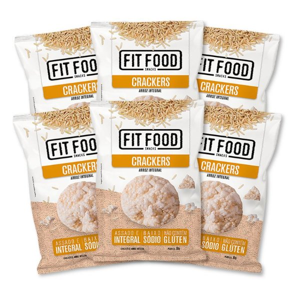 Kit 6 Cracker de Arroz Multigrãos 30G Fit Food