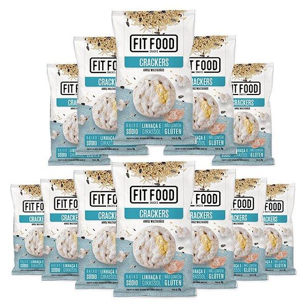 Kit 12 Cracker de Arroz Multigrãos Fit Food 30g