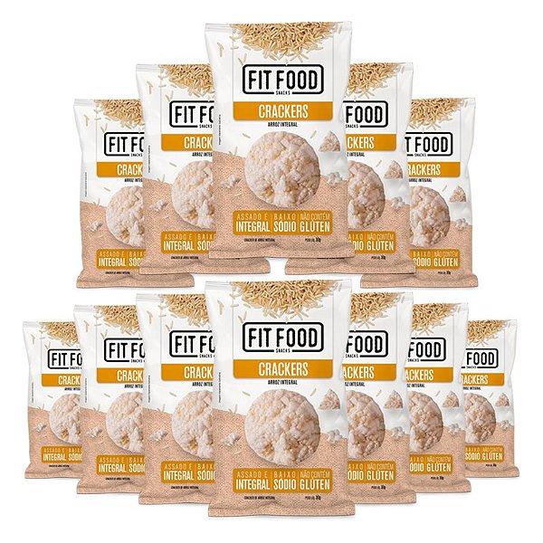 Kit 12 Cracker de Arroz Natural Fit Food 30g