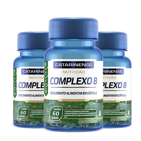 Kit 3 Complexo B Catarinense Pharma 60 Cápsulas
