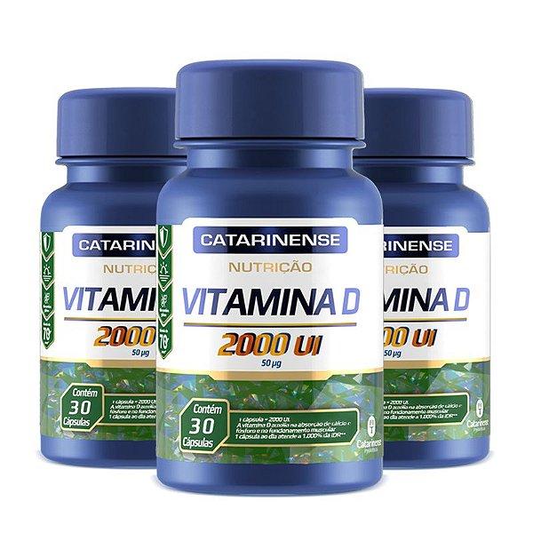 Kit 3 Vitamina D 2000ui Catarinense 30 cápsulas