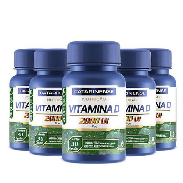 Kit 5 Vitamina D 2000ui Catarinense 30 cápsulas