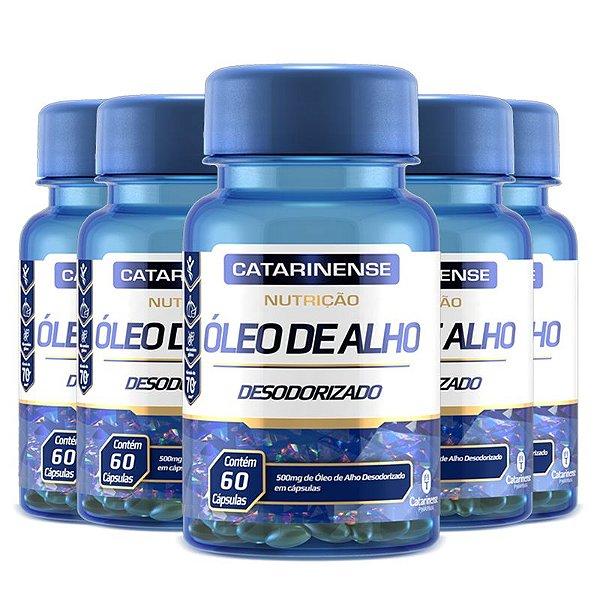 Kit 5 Óleo de Alho Desodorizado Catarinense 60 cápsulas