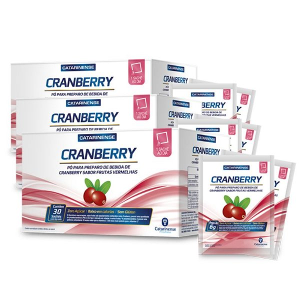 Kit 3 Bebida de Cranberry Catarinense 30 sachês