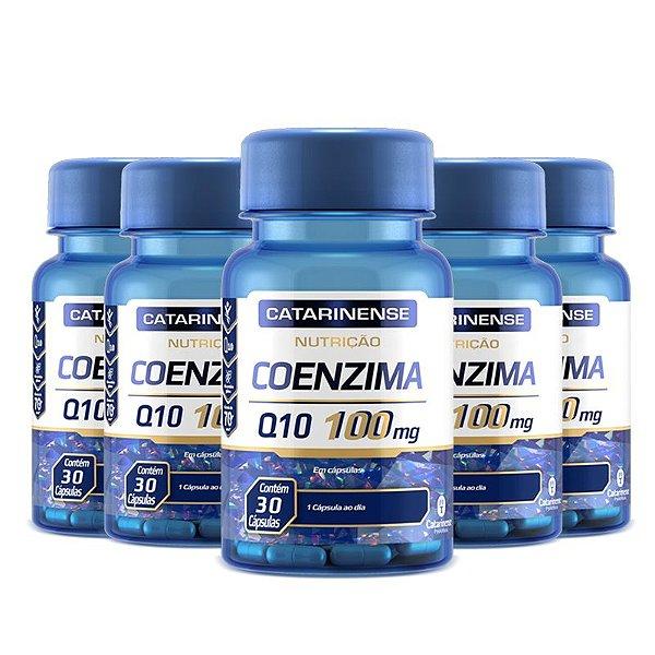 Kit 5 Coenzima Q10 100mg Catarinense 30 cápsulas