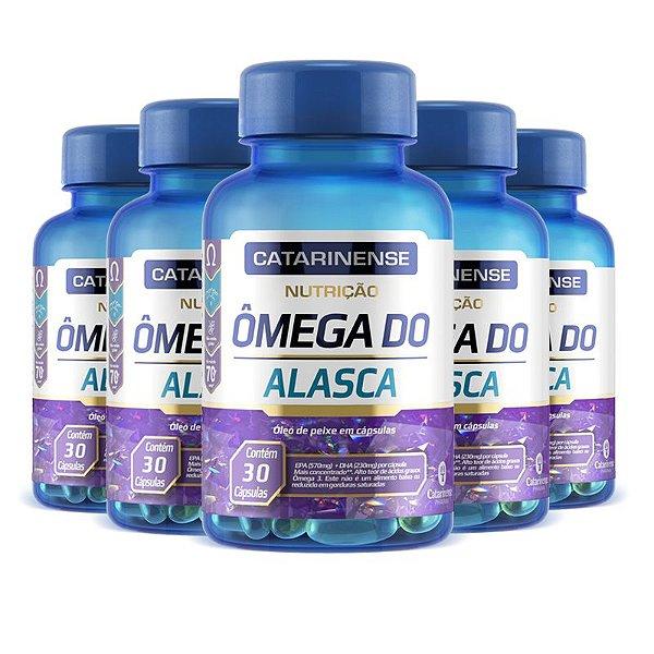 Kit 5 Ômega do Alasca EPA DHA Catarinense 30 cápsulas