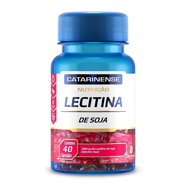 Lecitina de Soja 500mg Catarinense 40 cápsulas