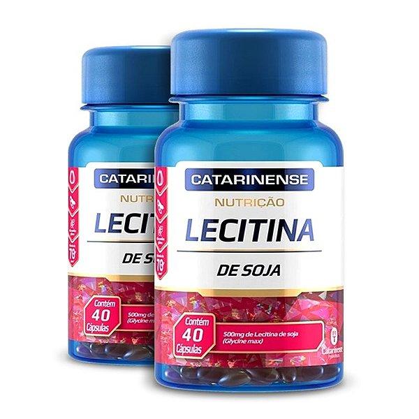 Kit 2 Lecitina de Soja 500mg Catarinense 40 cápsulas