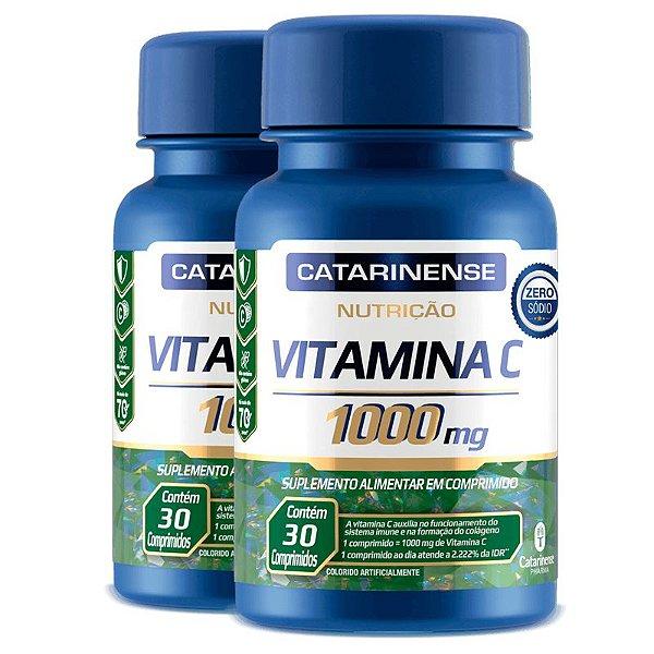 Kit 2 Vitamina C Catarinense 1000mg 30 comprimidos
