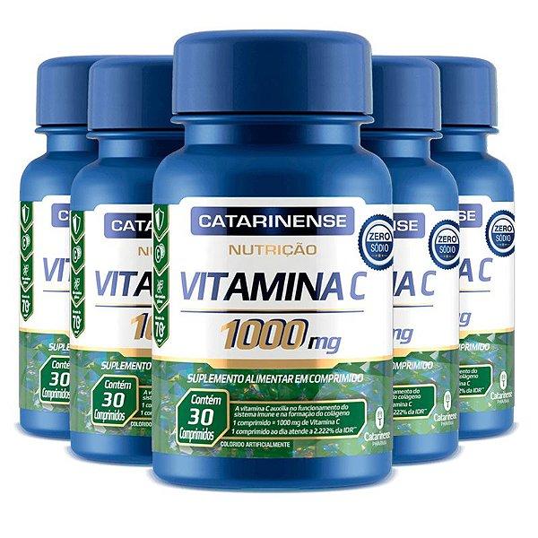 Kit 5 Vitamina C Catarinense 1000mg 30 comprimidos