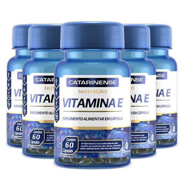 Kit 5 Vitamina E Catarinense Pharma 60 cápsulas