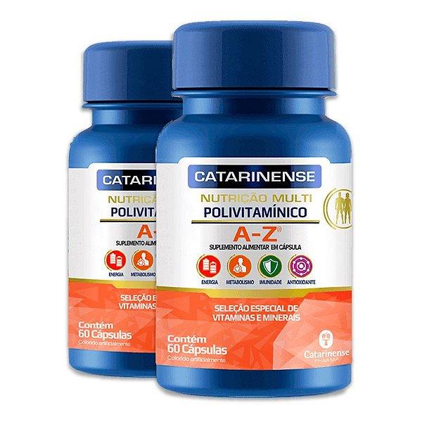 Kit 2 Polivitamínico A-Z Catarinense 60 cápsulas