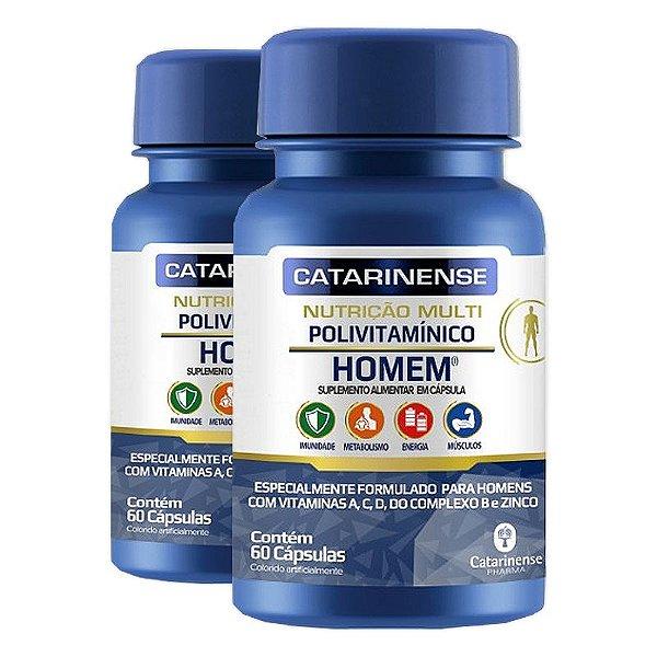 Kit 2 Polivitamínico Homem Catarinense 60 cápsulas