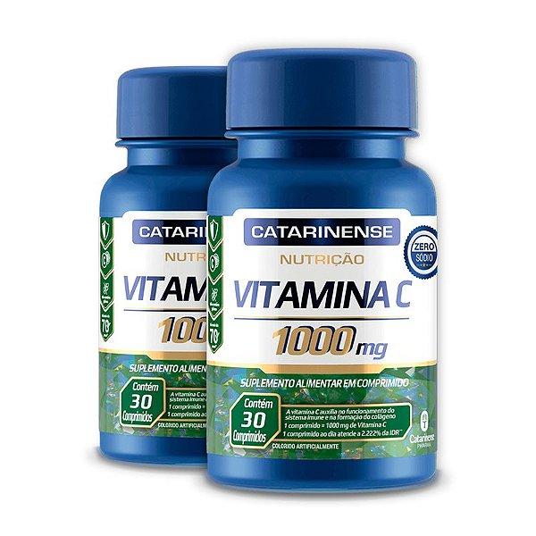 Kit 2 Vitamina C 1000mg Catarinense Pharma 30 Cápsulas