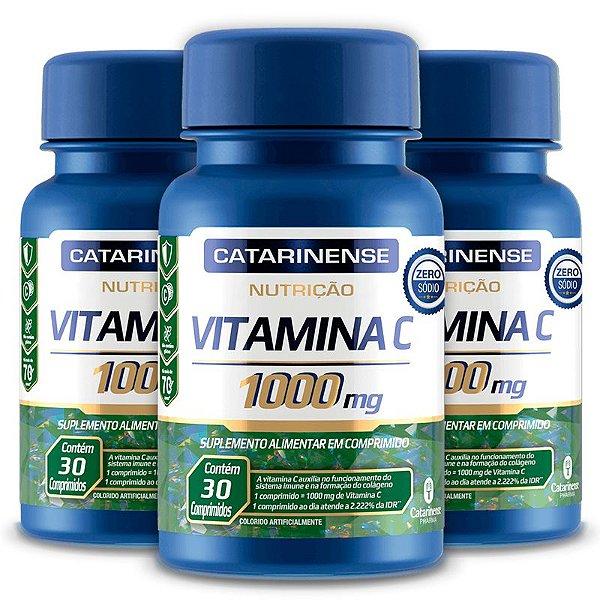 Kit 3 Vitamina C 1000mg Catarinense Pharma 30 Cápsulas