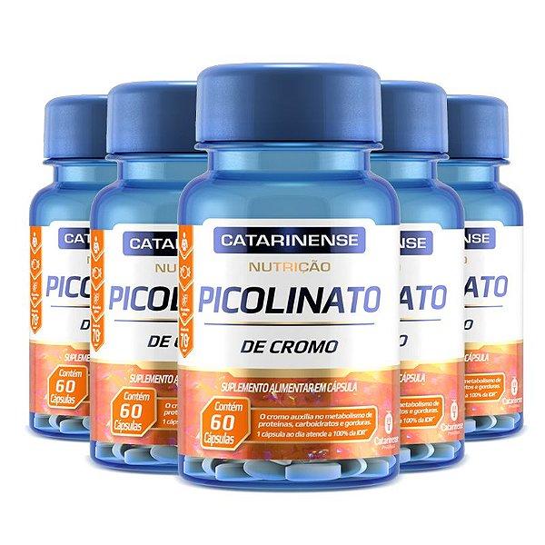 Kit 5 Picolinato de Cromo Catarinense Pharma 60 cápsulas