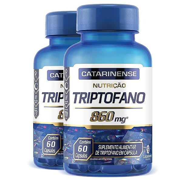 Kit 2 Triptofano 860mg Catarinense Pharma 60 cápsulas