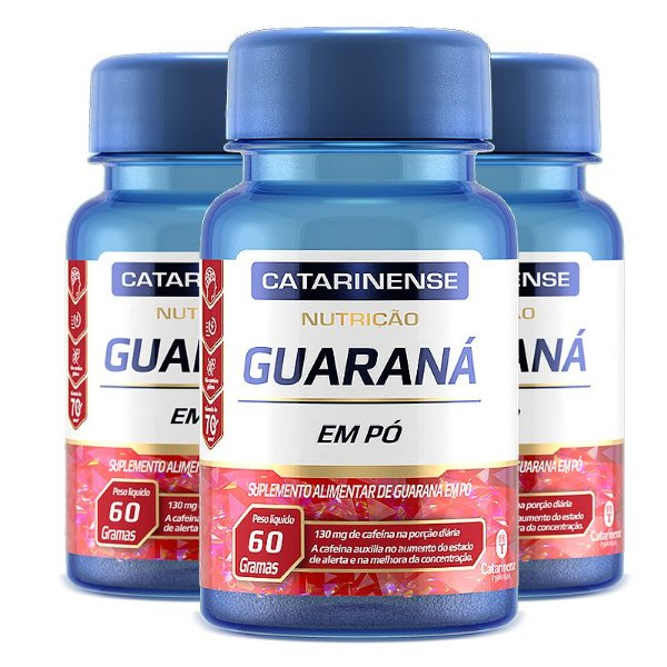 Kit 3 Guaraná Catarinense Pharma 60 comprimidos
