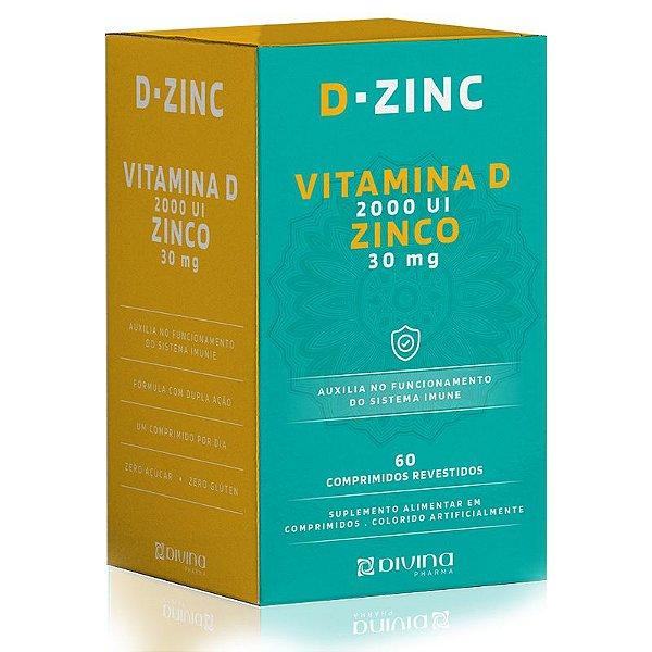D-Zinc Vitamina D 2000ui + Zinco 30mg Divina 60 cápsulas
