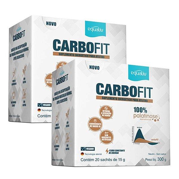 Kit 2 Carbofit 100% Palatinose Equaliv 20 saches