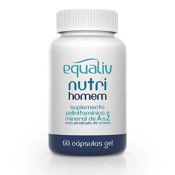 Nutri Homem Polivitamínico de A a Z Equaliv 60 cápsulas gel