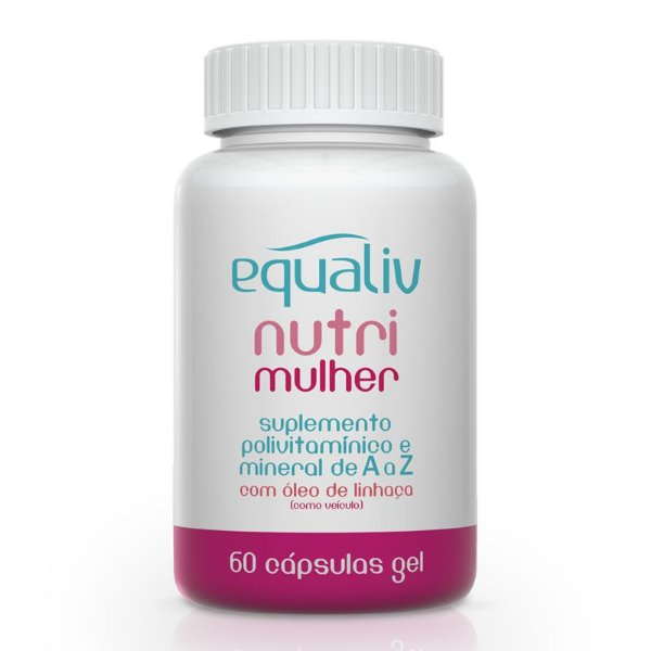 Nutri Mulher Polivitamínico de A a Z Equaliv 60 cápsulas gel