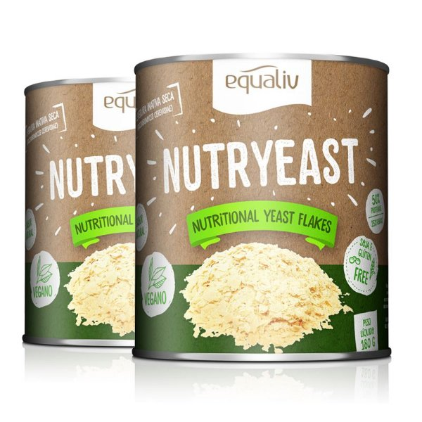 Kit 2 Nutryeast Nutritional Yeast Flakes Equaliv 180g
