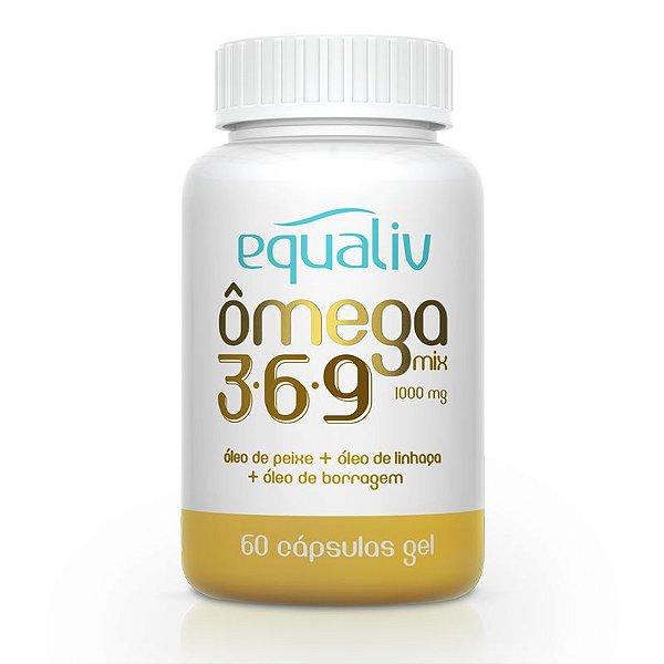 Ômega 3 Mix 3-6-9 1000mg Equaliv 60 cápsulas