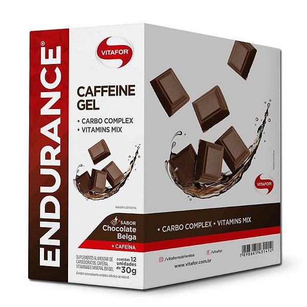 Endurance Caffeine Gel Vitafor Caixa 12 sachês Chocolate Belga