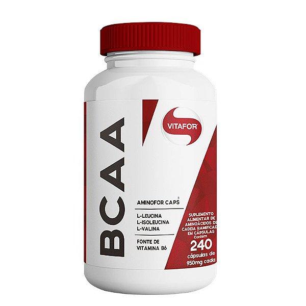 BCAA Aminofor com B6 Vitafor 240 cápsulas
