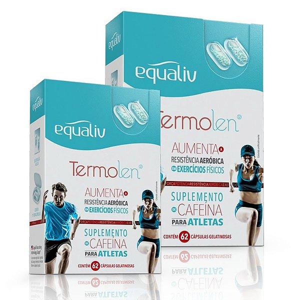 Kit 2 Termolen Cafeína Equaliv 62 cápsulas gelatinosas