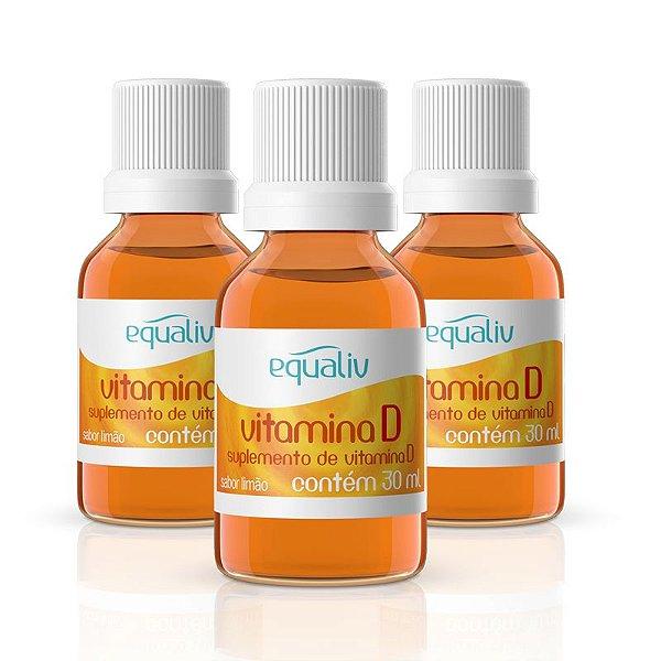 Kit 3 Vitamina D 200ui em Gotas Equaliv 30ml