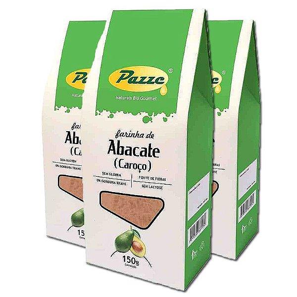 Kit 3 Farinha de Caroço de Abacate Pazze 150g
