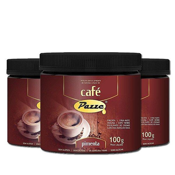 Kit 3 Café Instântaneo Café Pimenta Pazze 100g