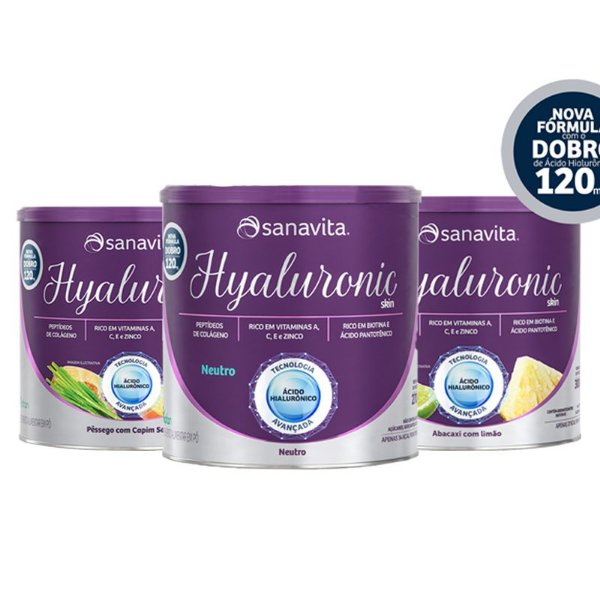 Kit 3 Hyaluronic ácido hialurônico Skin da Sanavita Diversos