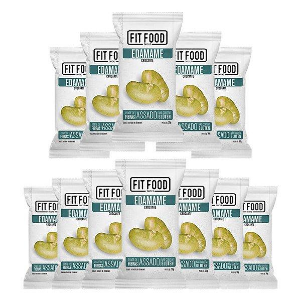 Kit 12 Snack Edamame Levemente Salgado FIT FOOD 30g