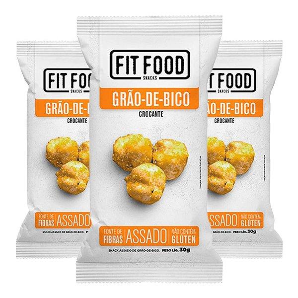Kit 3 Snack Grao-De-Bico Levemente Salgado FIT FOOD 30g