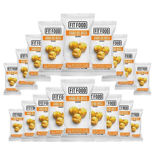 Kit 18 Snack Grao-De-Bico Levemente Salgado FIT FOOD 30g