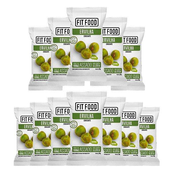 Kit 12 Snack Ervilha Wasabi FIT FOOD 30g