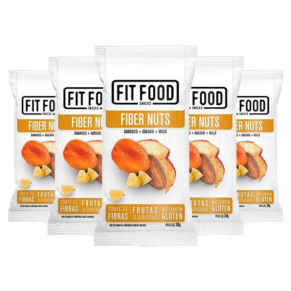 Kit 5 Snack Fiber Nuts FIT FOOD 30g