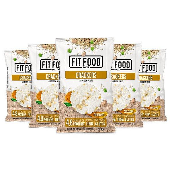 Kit 5 Cracker de Arroz com Feijão Fit Food 40g Curcuma