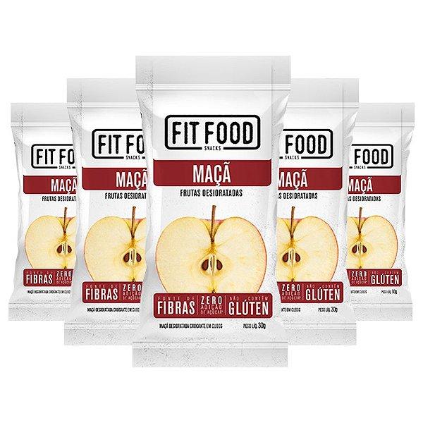 Kit 5 Maçã Snack Desidratada Fit Food 30g