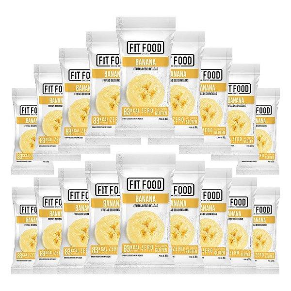Kit 18 Banana Snack Desidratada Fit Food 30g