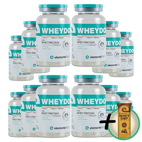 Kit 12 Wheydop 3W Whey Protein Monodose Elemento Puro 27g + Brinde