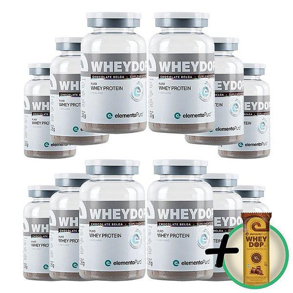 Kit 12 Wheydop ISO Whey Protein Monodose Elemento Puro 26g + Brinde