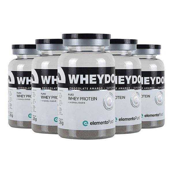 Kit 5 Wheydop HIDRO Whey Protein Monodose Elemento Puro 27g Chocolate Amargo