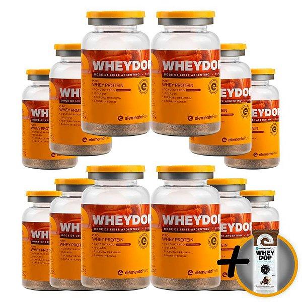 Kit 12 Wheydop X Whey Protein Monodose Elemento Puro 25g Doce de Leite Argentino + Brinde