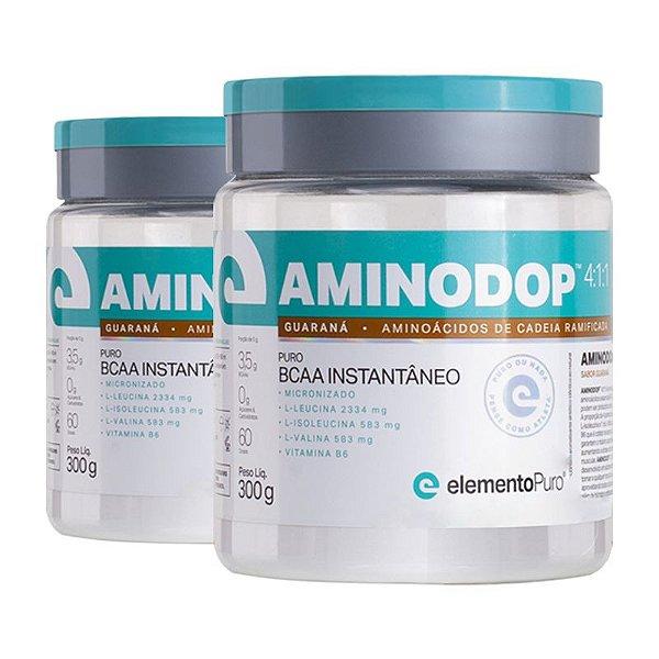 Kit 2 Aminodop Bcaa Elemento Puro 300g