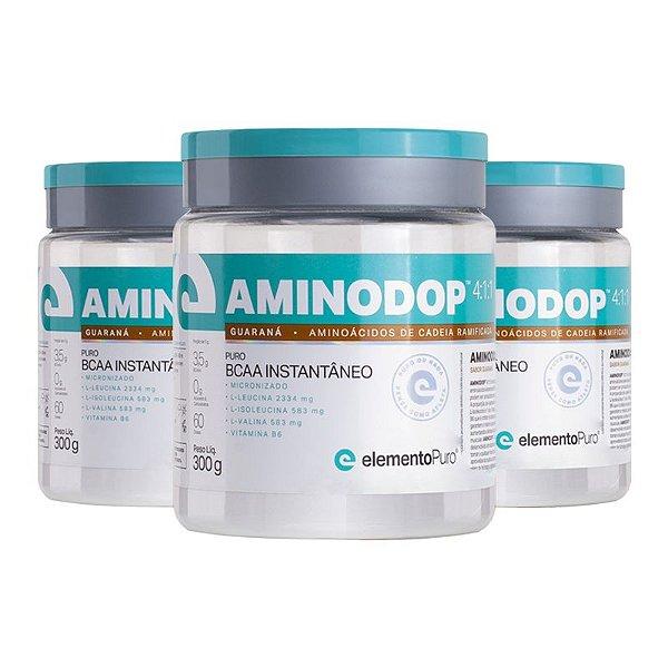 Kit 3 Aminodop Bcaa Elemento Puro 300g