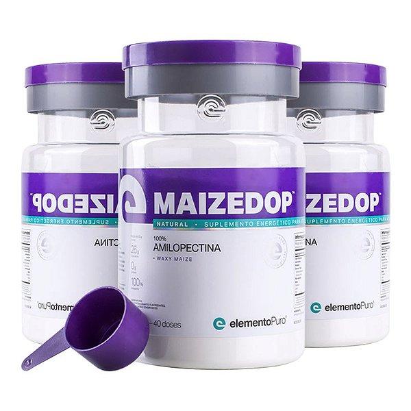 Kit 3 Maizedop Waxy Maize Elemento Puro 1200g Natural